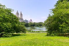 Central Park The Lake Manhattan New York Royalty Free Stock Photos