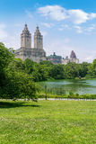 Central Park The Lake Manhattan New York Stock Photo