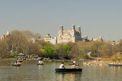 Central Park lake, New York Stock Images