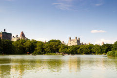 Central Park Lake, New York Royaltyfri Fotografi