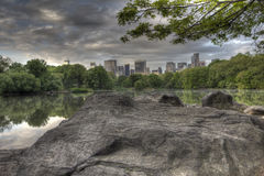 Central Park the lake Stock Images
