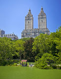 Central Park lake Royalty Free Stock Images