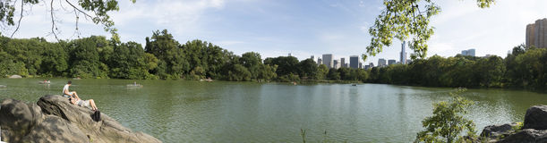 Central Park Lake. New Yorks Central Park Lake looking south Royalty Free Stock Image