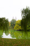The Central Park lake, NY Stock Images