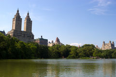Central Park laken, NYC Royaltyfria Foton
