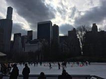 Central Park lodowy lodowisko Zdjęcie Royalty Free