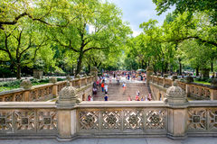 Central Park Mall from Bethesda Terrace in New York Royalty Free Stock Photo