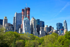 Central Park and Manhattan Stock Photo