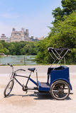 Central Park Manhattan The Lake rickshaw bike NY Royalty Free Stock Photography