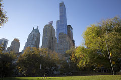 Central Park Manhattan New York in autumn colors Stock Image