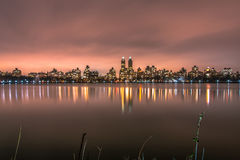 Central Park - Manhattan New York. Long exposure on the central park`s lake Royalty Free Stock Photos
