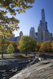 Central Park Manhattan Nowy Jork w jesień kolorach Obraz Royalty Free