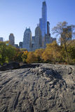 Central Park Manhattan Nueva York en colores del otoño Fotografía de archivo libre de regalías