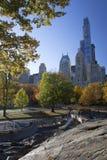 Central Park Manhattan Nueva York en colores del otoño Imagen de archivo libre de regalías