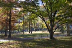 Central Park Manhattan Nueva York en colores del otoño Imágenes de archivo libres de regalías