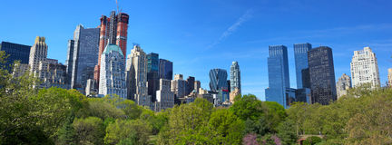 Central Park and Manhattan panorama Stock Photo