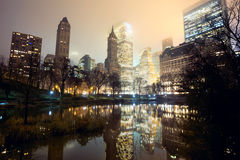Central Park and Manhattan skyline Stock Photo