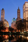 Central Park and manhattan skyline, New York City Royalty Free Stock Photos