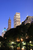 Central Park and manhattan skyline, New York City Royalty Free Stock Image
