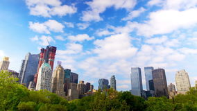 Central Park and Manhattan skyline stock video