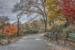 Central Park, Miasto Nowy Jork jesień Zdjęcie Stock