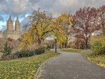 Central Park, Miasto Nowy Jork w opóźnionej jesieni Zdjęcia Royalty Free