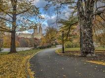 Central Park, Miasto Nowy Jork w opóźnionej jesieni Obrazy Stock