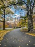 Central Park, Miasto Nowy Jork w opóźnionej jesieni Fotografia Stock