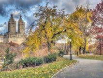 Central Park, Miasto Nowy Jork w opóźnionej jesieni Zdjęcie Royalty Free