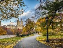 Central Park, Miasto Nowy Jork w opóźnionej jesieni Obrazy Royalty Free