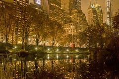 Central Park na noite imagem de stock