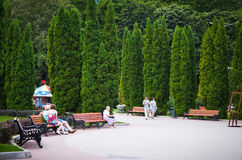 Central Park named after Belousov. Royalty Free Stock Photography
