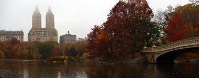 Central Park nel lago Fotografie Stock Libere da Diritti