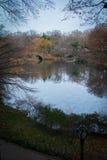 Central Park nella caduta Fotografie Stock