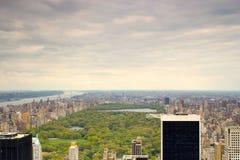 Central Park, New York от высокого взгляда Стоковые Фотографии RF
