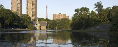 Central Park New York. Harlem Meer at the northern end of Central Park New York.  Photographed in summer Royalty Free Stock Photos