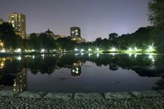 Central Park New York. Central Park at night in New York City Stock Photography