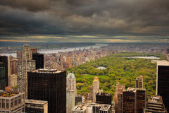 Central Park, New York, from above Stock Photos