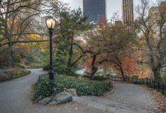 Central Park, New York City autumn scene Royalty Free Stock Photography