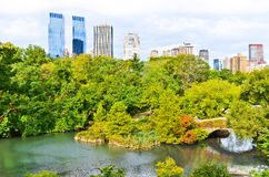 Central Park in New York City in autumn Royalty Free Stock Photo
