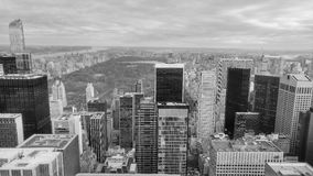 Central Park in New York City. Black and white photography of New York Citys Central Park Royalty Free Stock Photos
