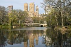 Central Park, New York City Bow bridge Royalty Free Stock Photo