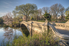Central Park, New York City. Bow bridge in spring Central Park, New York City Royalty Free Stock Photos