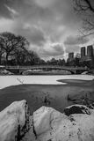 Central Park, New York City bow bridge Royalty Free Stock Photos