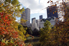 Central Park, New York City. Fall colors in Central Park, New York Stock Photo
