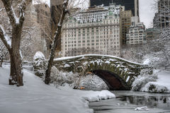 Central Park, New York City Gapstow bridge Stock Images