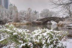 Central Park, New York City Gapstow bridge Stock Image
