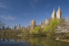Central Park New York City i vår Royaltyfri Bild