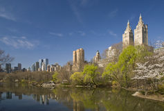 Central Park, New York City na mola Imagem de Stock Royalty Free