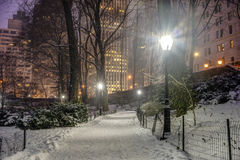 Central Park, New York City at night Stock Photo